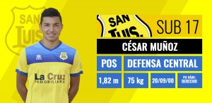 Defensa central - Cesar Muñoz