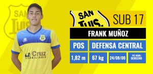 Defensa central - Frank Muñoz