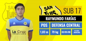 Defensa central - Raymundo Farías