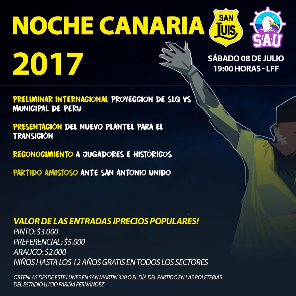 Afiche Noche Canaria